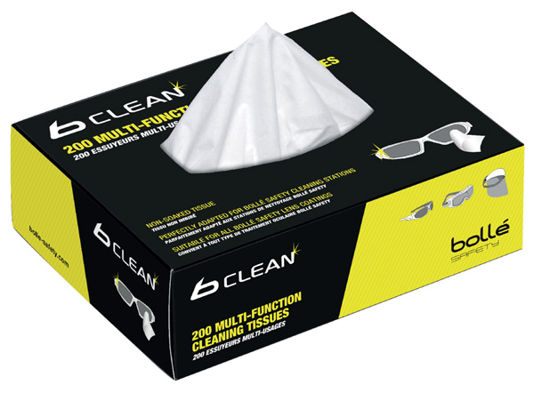 BOLLE BOX OF 200 TISSUES FOR BOB400 - BOB401