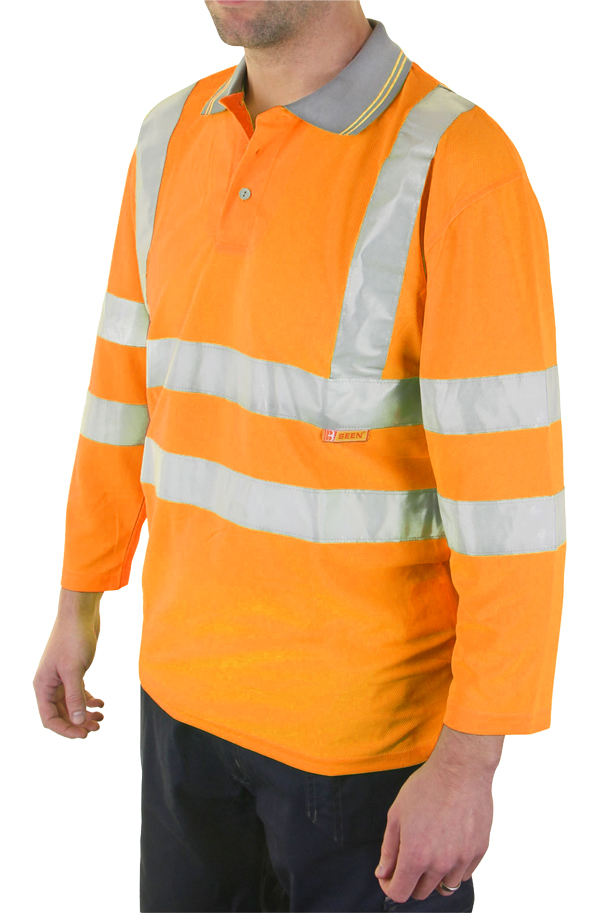 PLANT OPERATORS 3/4QTR SLEEVE POLO SHIRT - BPK3QOR