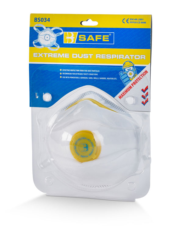 PRE PACK P3 VALVED  MASK - BS034
