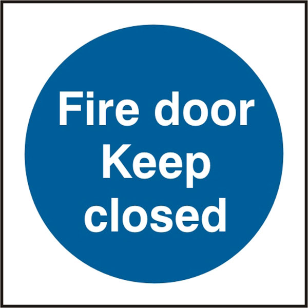 FIRE DOOR KEEP CLOSED SIGN - BSS11340