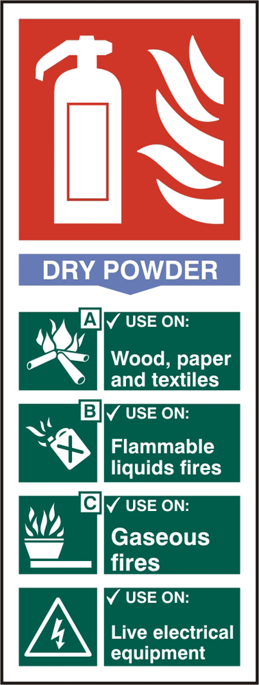 FIRE EXTINGUISHER DRY SIGN - BSS12304
