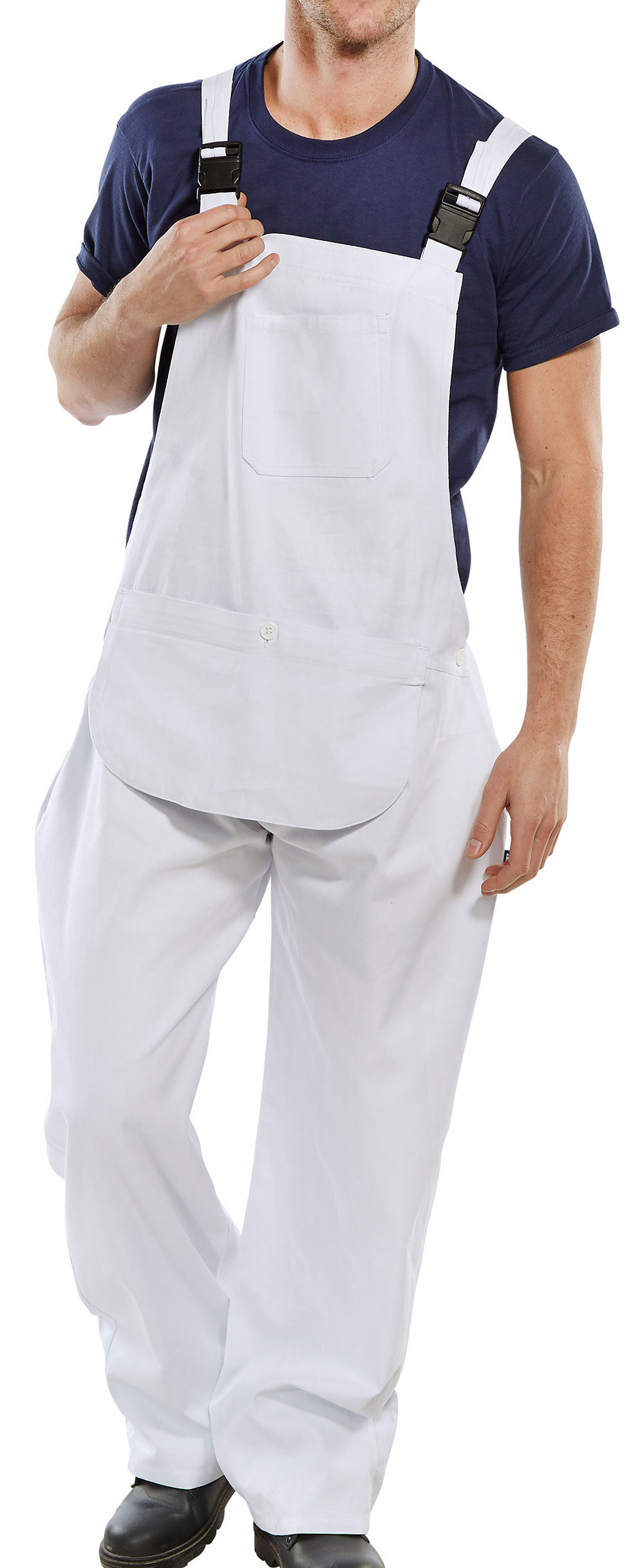COTTON DRILL BIB AND BRACE - CDBB