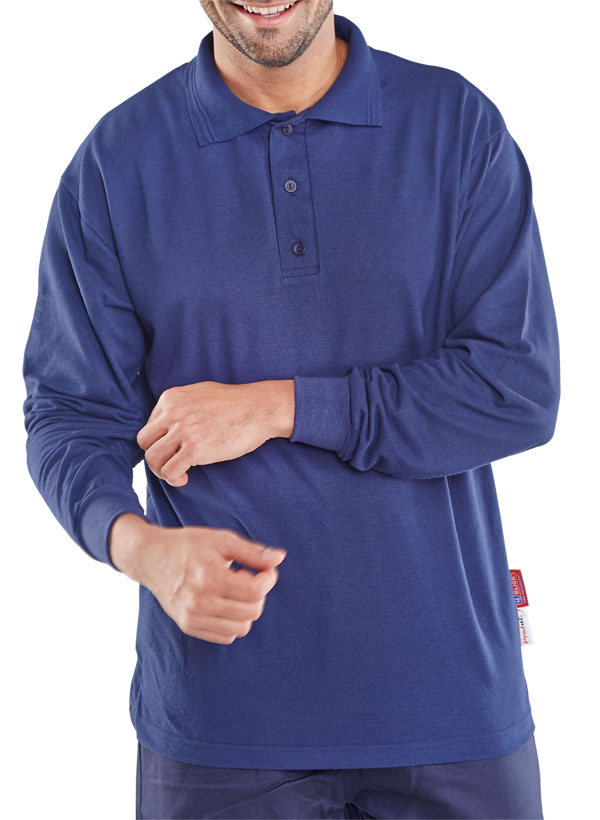 CLICK FLAME RETARDANT ANTI-STATIC LONG SLEEVE POLO - CFRPSLSAS