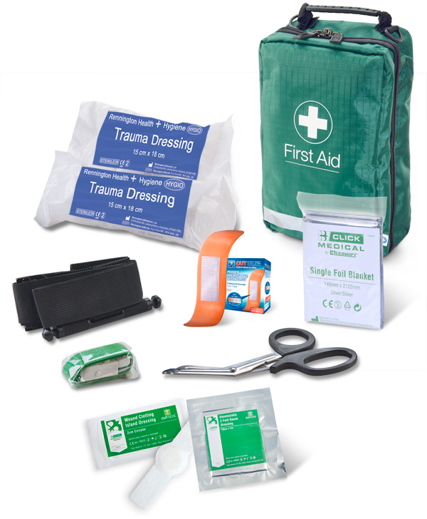 BS8599-1:2019 CRITICAL INJURY PACK MEDIUM RISK IN BAG - CM0083