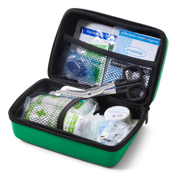 BS8599-1 TRAVEL FIRST AID KIT IN SMALL FEVA CASE - CM0266
