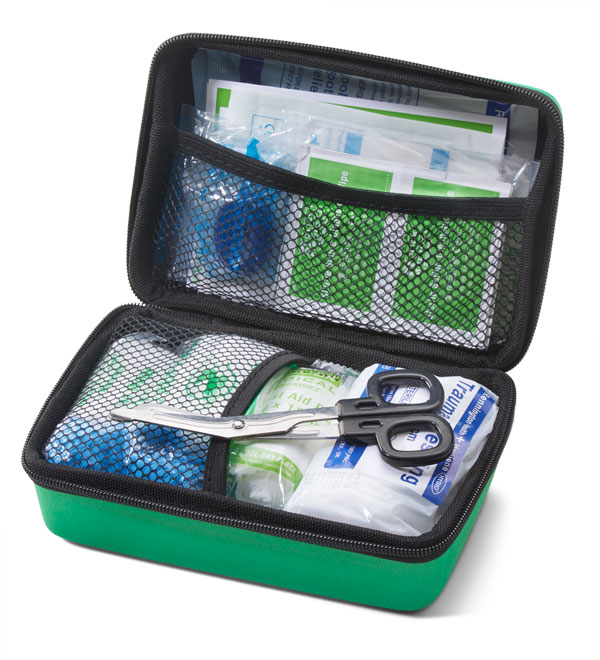 BS8599-2 MEDIUM TRAVEL FIRST AID KIT IN SMALL FEVA CASE - CM0271