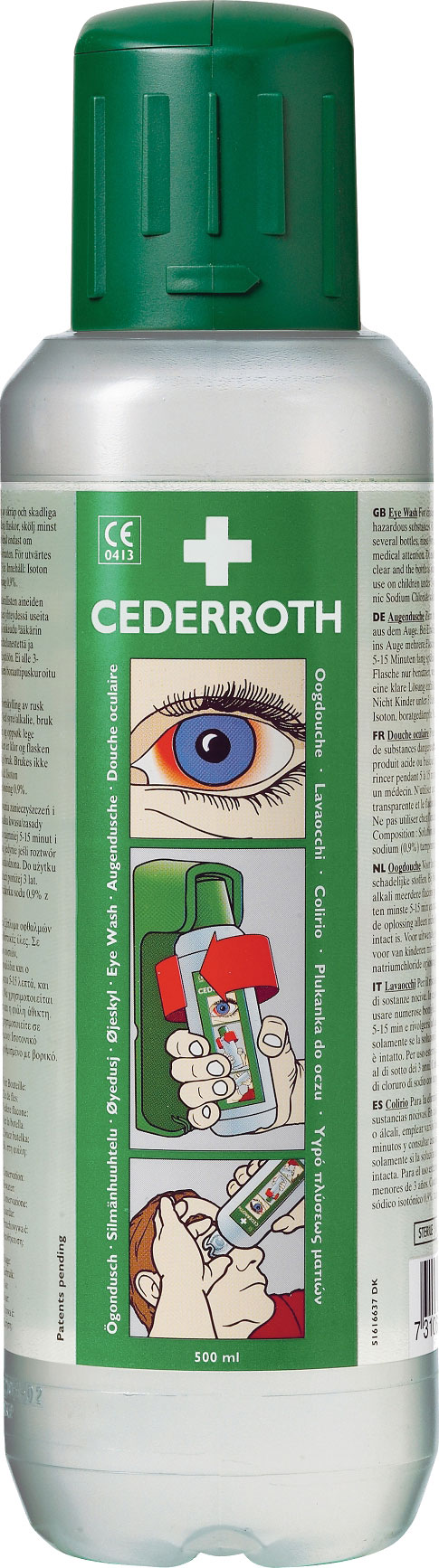 CEDERROTH 500ML EYEWASH BOTTLE - CM0727