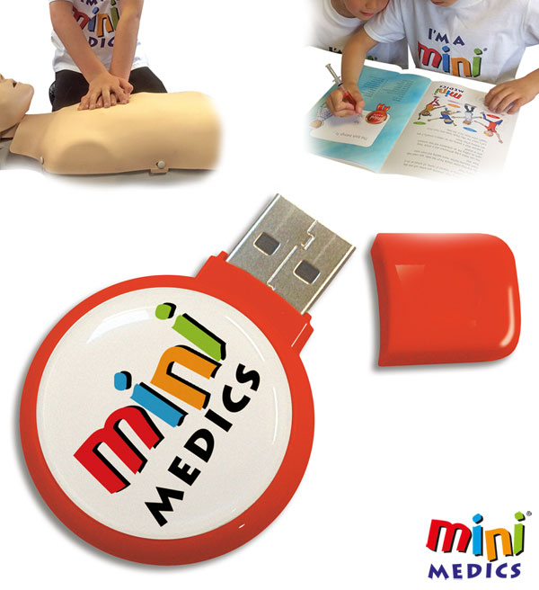MINI MEDICS USB FIRST AID TRAINING PACKAGE FOR KIDS - CM1180