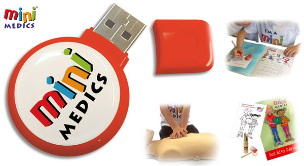 MINI MEDICS USB TRAINING PACK WITH 32 BOOKS AND PENCILS SET - CM1182