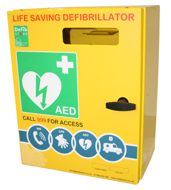 DEFIBRILLATOR STAINLESS STEEL CABINET NO LOCK & ELECTRICS - CM1212