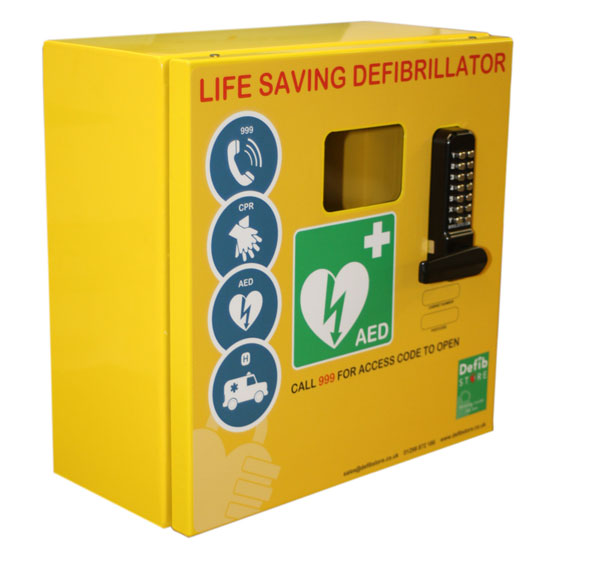 DEFIBRILLATOR MILD STEEL CABINET WITH LOCK & ELECTRICS - CM1215