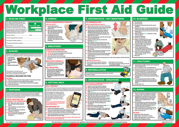 WORKPLACE FIRST AID POSTER - CM1302