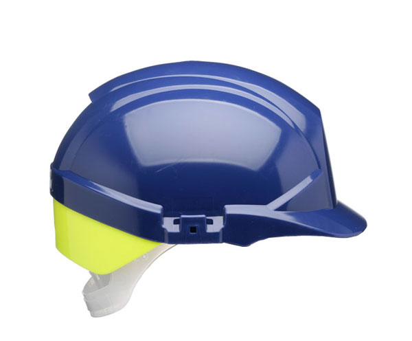 REFLEX SAFETY HELMET BLUE C/W YELLOW REAR FLASH - CNS12BHVYA