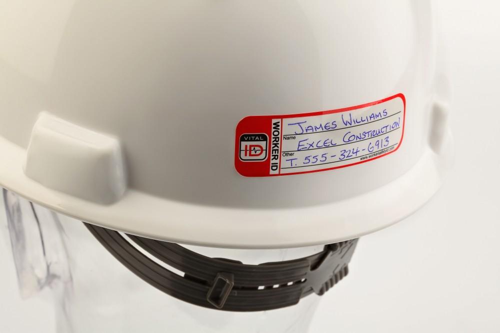 Safe Worker 5x Visitor Hard Hat Stickers Helmet Decals Safety Labels