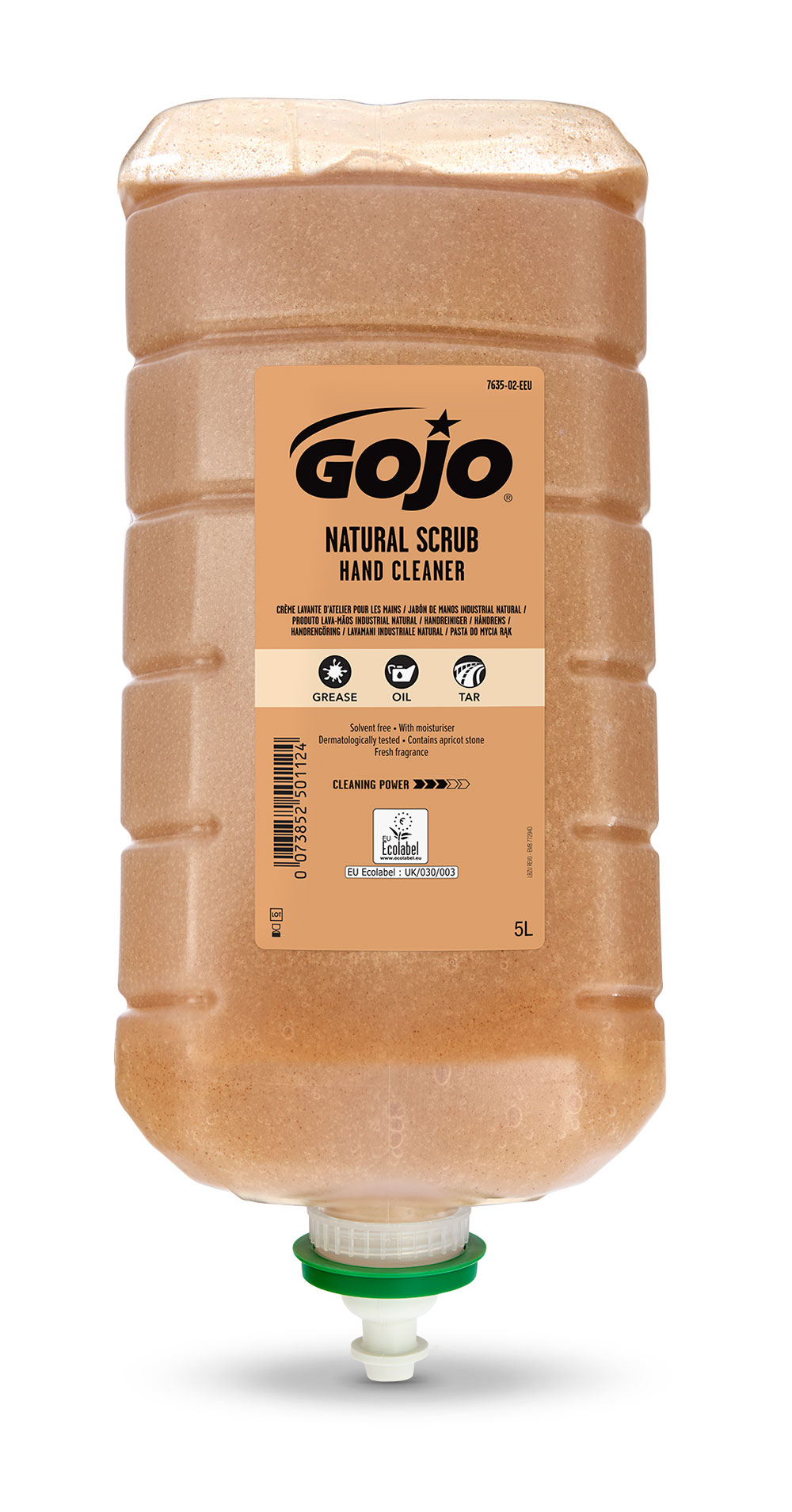 GJ7635-02 - GOJO NATURAL SCRUB HAND CLEANER 5000ML