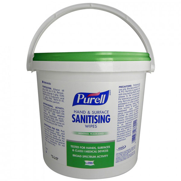PURELL HAND AND SURFACE SANITISING WIPES (BUCKET) - GJ92206-06