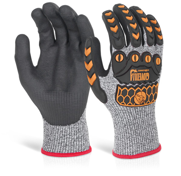 GLOVEZILLA NITRILE PALM COATED GLOVE - GZ04