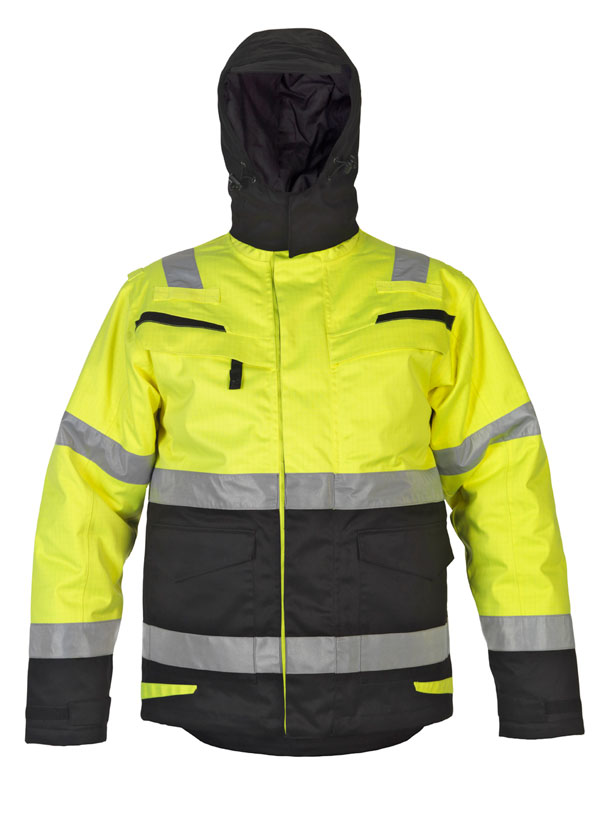 MATLOCK MULTI CVC WATERPROOF HIGH VISIBILITY FIXED LINING ARC PARKA - HYD043715SYBL