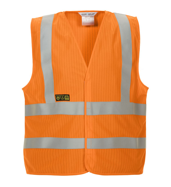 MABLY HIGH VISIBILITY FLAME RETARDANT ANTI-STATIC WAISTCOAT  - HYD0672800