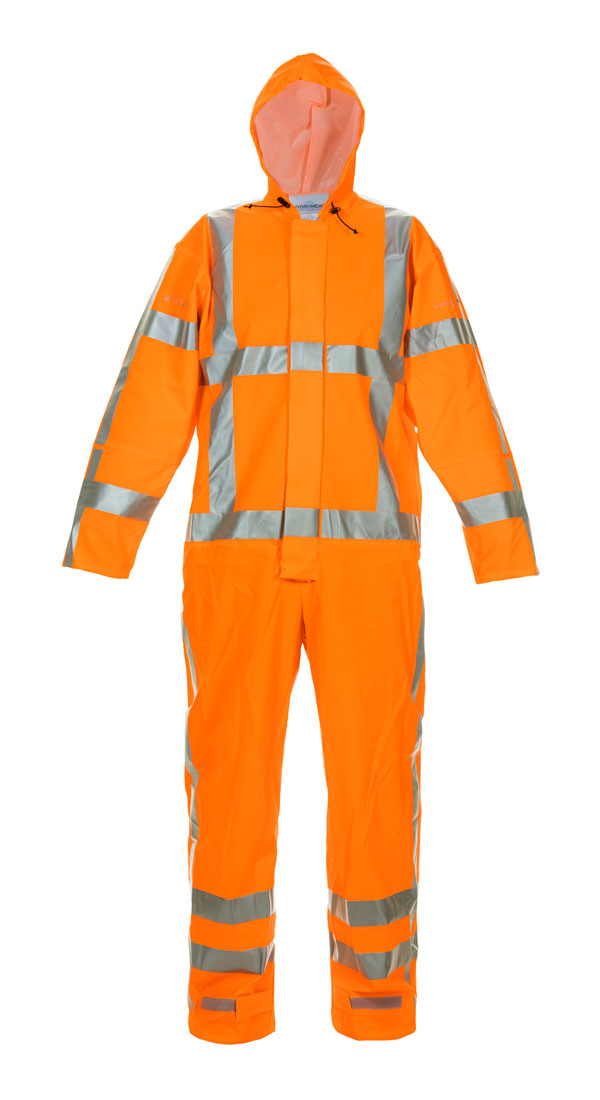 NORG MULTI HYDROSOFT FLAME RETARDANT ANTI-STATIC HIGH VISIBILITY WATERPROOF COVERALL - HYD068901OR