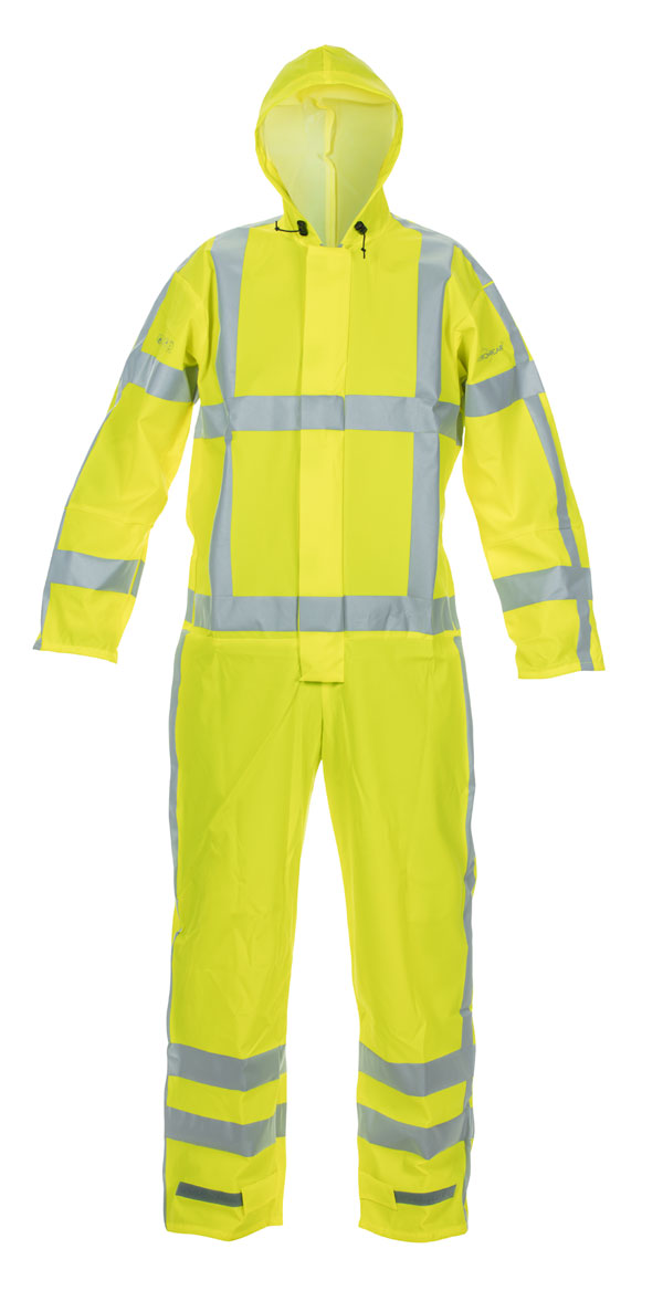 NORG MULTI HYDROSOFT FLAME RETARDANT ANTI-STATIC HIGH VISIBILITY WATERPROOF COVERALL - HYD068901SY