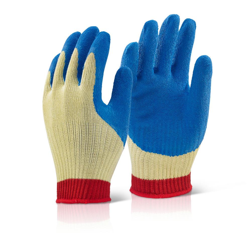 klg kevlar latex gloves large beeswift workwear hi