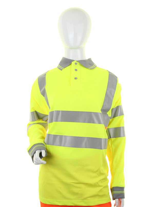 LADIES HIVIZ L/S POLO  - LPK22SY