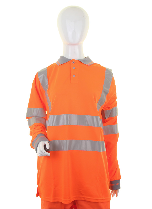 LADIES HIVIZ L/S POLO - LPK28OR
