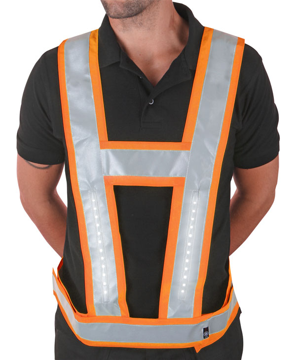 LIGHTVEST HARNESS C/W BACKLIGHT ORANGE - LVBLOR025