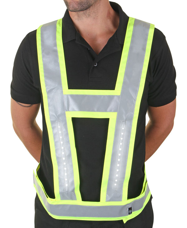 LIGHTVEST HARNESS C/W BACKLIGHT ORANGE - LVBLSY025