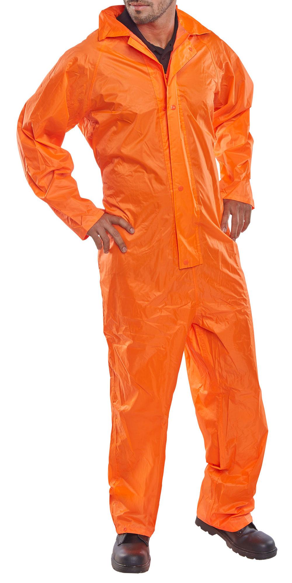 Nbdc Nylon B Dri Coverall Orange Beeswift