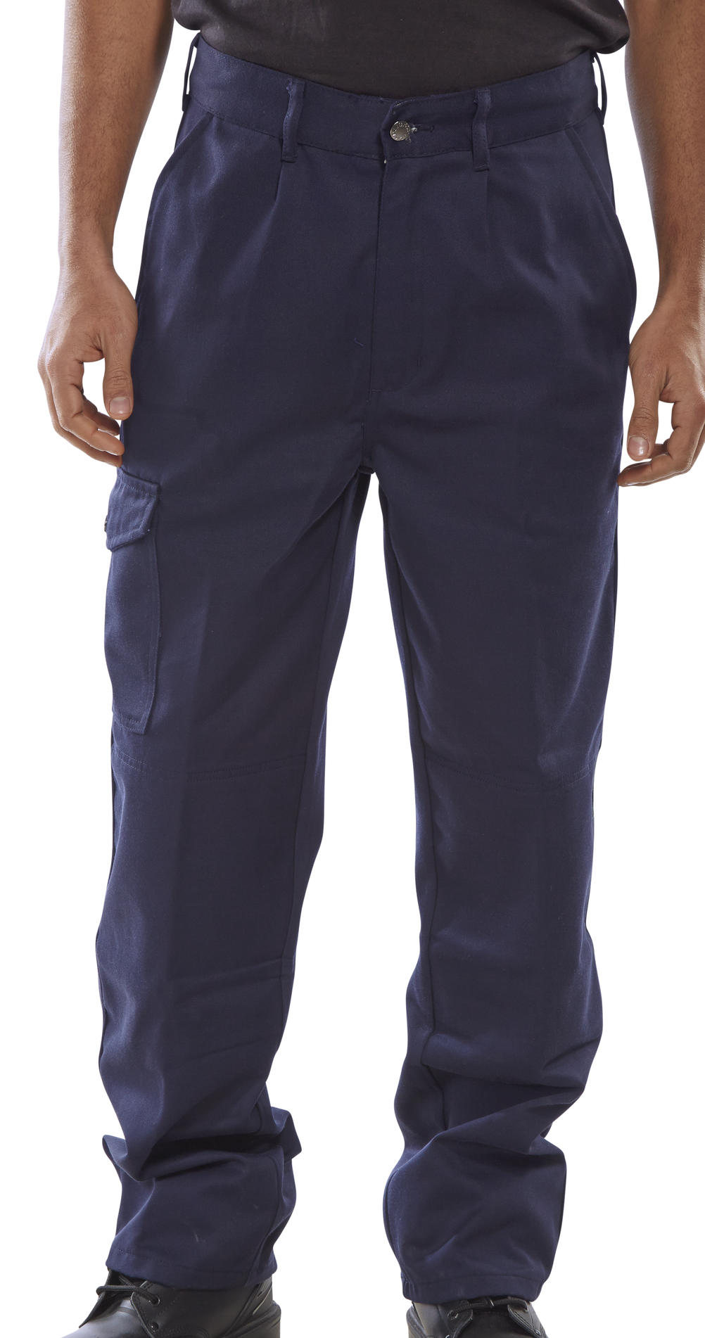 PCT9 - HEAVYWEIGHT DRIVERS TROUSERS NAVY BLUE @ Beeswift