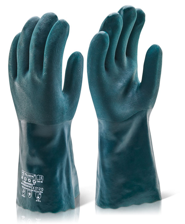 PVC DOUBLE DIP  CHEMICAL GLOVE 35CM GAUNTLET - PVCDD35