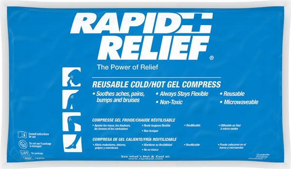 REUSABLE HOT/COLD GEL COMPRESS C/W CONTOUR GEL 5