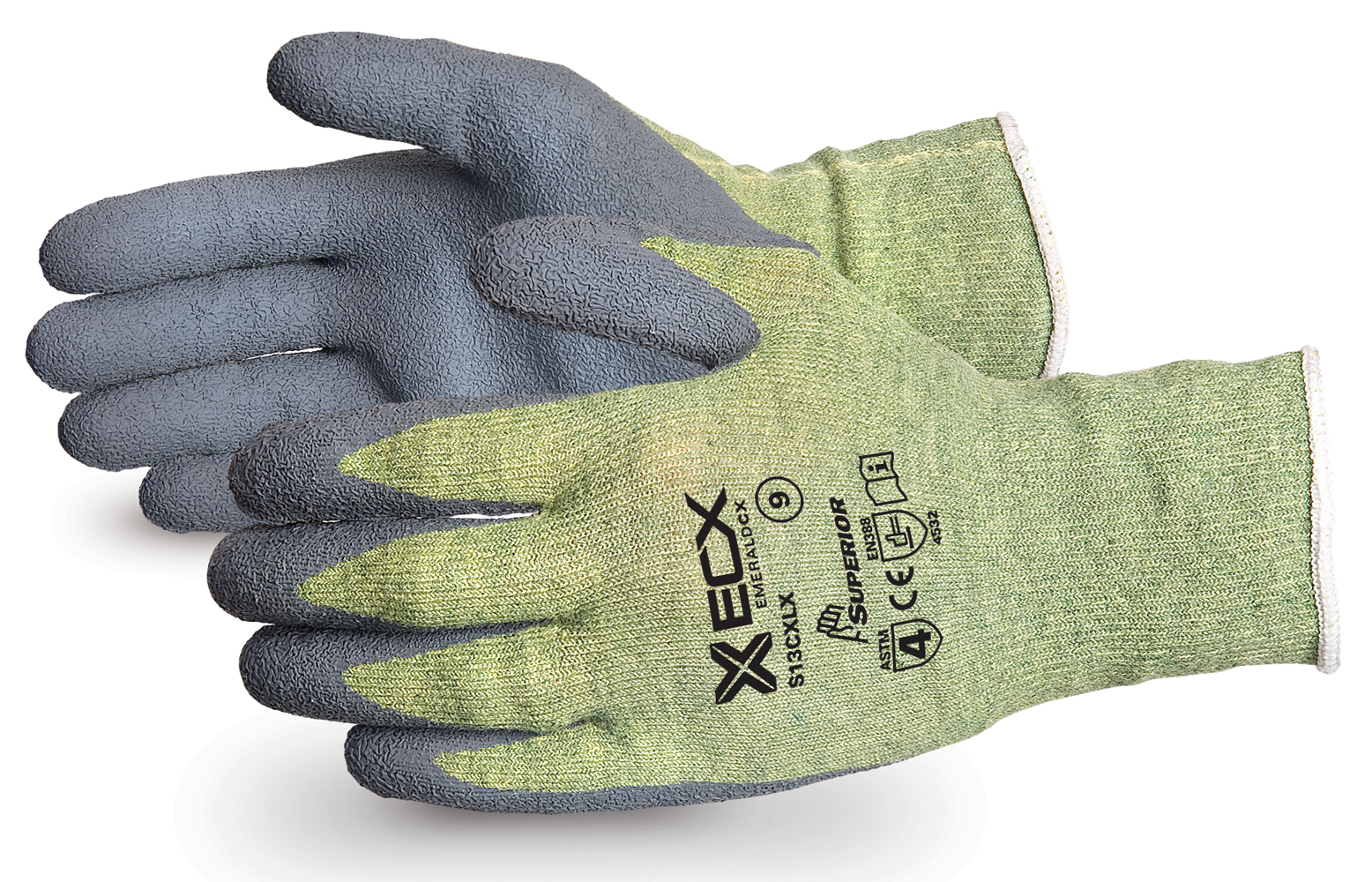 EMERALD CX® KEVLAR®  WIRE-CORE GLOVES WITH LATEX PALMS - SUS13CXLX