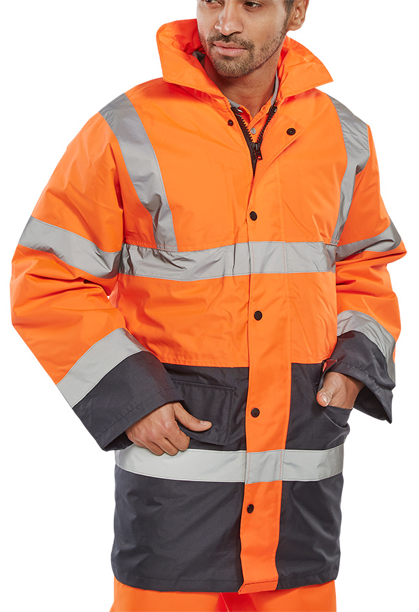 TWO TONE TRAFFIC JACKET - TJSTTENG