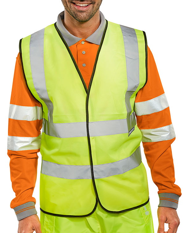 BSEEN EN ISO 20471 VEST ORANGE (BULK PACK) - BWC
