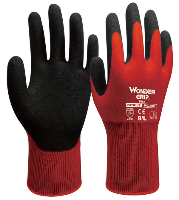 WONDER GRIP FLEX GLOVES RED  - WG500RE