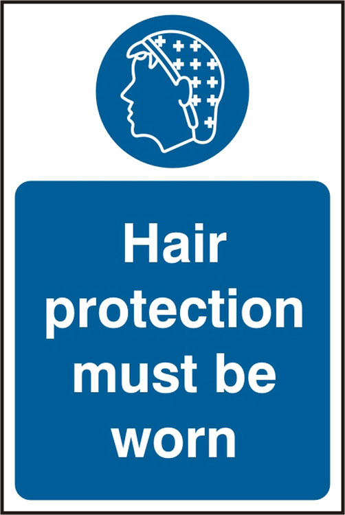 Hair Protection Must Be Worn Catering Sign
