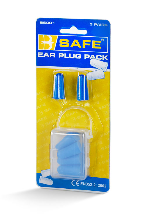 B-SAFE EAR PLUGS 3 PAIR/PACK - BS001