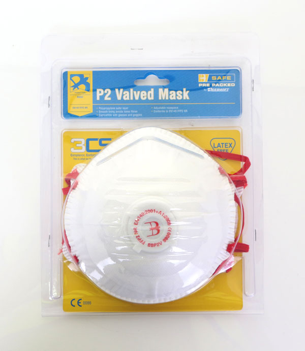 PRE PACK P2 VALVED MASK - 3/PACK - BS032