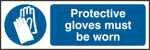 PROTECTIVE GLOVES MUST BE WORN SIGN - BSS11392