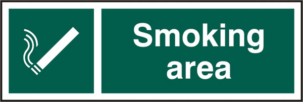 SMOKING AREA SIGN - BSS11904