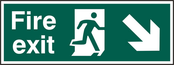 FIRE EXIT SIGN - BSS12101