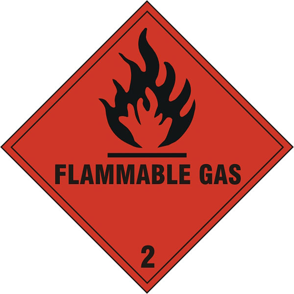 FLAMMABLE GAS SIGN - BSS1859S