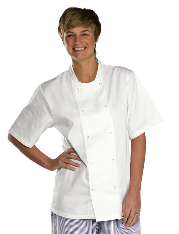 CHEFS JACKET  SHORT SLEEVE - CCCJSS