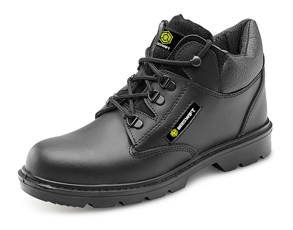 CLICK LEATHER MID CUT MIDSOLE BOOT - CF4BL