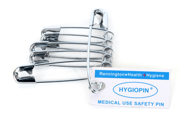 HYGIO PIN SAFETY PINS PACK OF 12 - CM0470