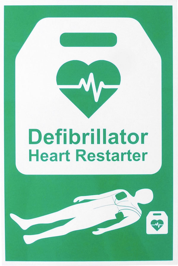 AED AUTOMATED EXTERNAL DEFIBRILLATOR SIGN - CM1328