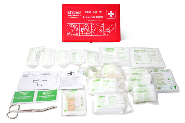 GERMAN VEHICLE FIRST AID KIT DIN 13164 IN TRAVEL BOX - CM1829